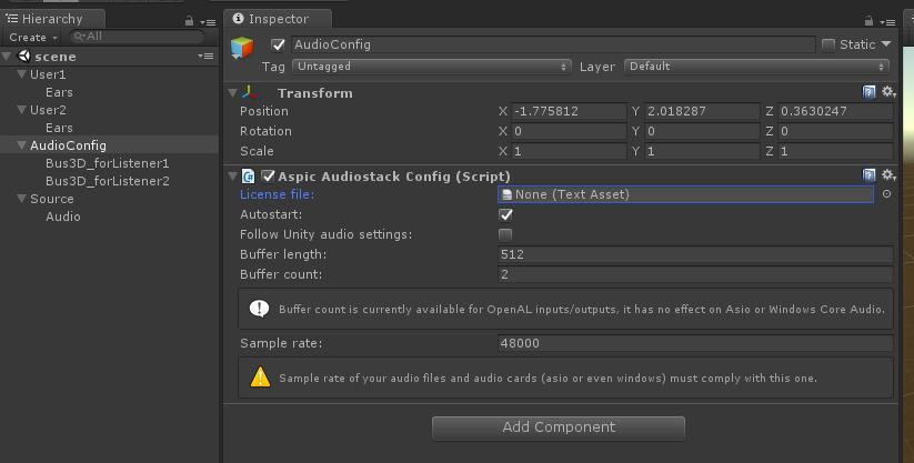 Multi listener binaural rendering in Unity